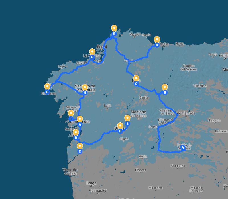 Galicia en 1 mes